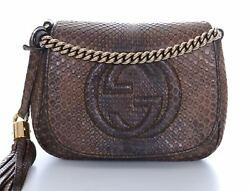 Rare GUCCI Limited Edition Python Soho Chain Strap Crossbody Bag Purse