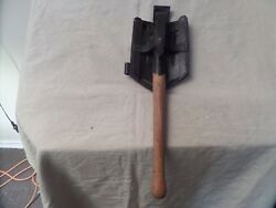 Wwii German Folding Etool And Holder Reproduction