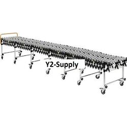 New Portable Flexible And Expandable Conveyor-steel Skate Wheels-24 Wide