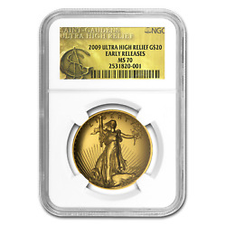 2009 Ultra High Relief Double Eagle MS-70 NGC (ER Gold Label) - SKU #59967