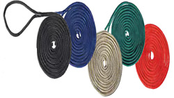 Boat Dock Lines 4 Black 1/2 X 25 Double Braid Nylon Premier Mooring Marine Rope