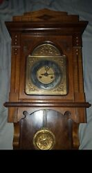 Gustav Becker From The 1910 Awesome Clock With Gb On Pendulum And Clock.