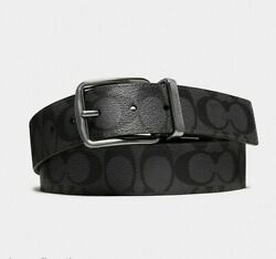 New Authentic Coach F64839 Men Wide Harness Cut-To-Size Reversible Belt Gift Box