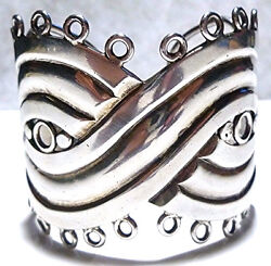The Mask Spratling Mexico Mexican Sterling Silver Large Estate Cuff Bracelet