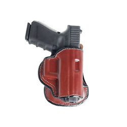 Paddle Holster For Glock 21. Owb Leather Paddle With Adjustable Cant.