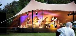 Commercial Wedding Event Concert Stage Patio Yard Coated Bedouin Stretch Tent