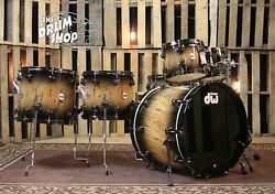 DW Collector's Natural to Quick Candy Black Burst over European Spalted Beech