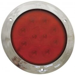 Grote Supernova 4 Inch 10-diode Pattern Stop/tail/turn Led Lamp Red 53302