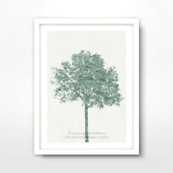 TREE GREEN ART PRINT Poster Home Decor Wall Trees Picture Artwork 10 SIZES