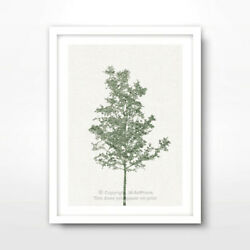 TREE GREEN ART PRINT Home Decor Wall Trees Picture Artwork Design MULTI SIZES