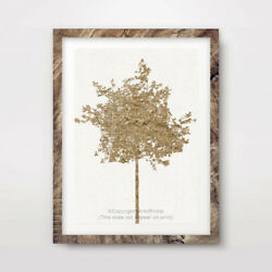 TREE YELLOW ART PRINT Decor Wall Trees Picture 8x10 11x14 12x16 16x20 quot; inches