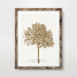 TREE YELLOW ART PRINT Design Home Decor Wall Trees Picture Artwork 10 SIZES