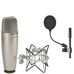Samson C01U Pro USB Studio Condenser Microphone + SP01 Spider Shockmount On...