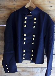 Civil War Union Officers Double Breasted Navy Blue Shell Jacket Velveteen 50