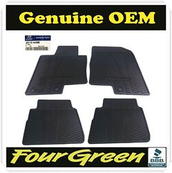 Genuine OEM Front & Rear All Weather Floor Mats For 2011-2014 Hyundai Sonata New