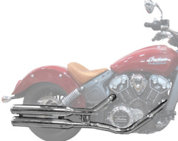Indian Motorcycle Chrome Stage 1 Straights Slip On Exhaust For 2015-2016 Scouts
