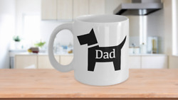 Dog Dad Mug White Coffee Cup Gift For Fathers Day Best Puppy Fur Owner Scottie