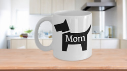 Dog Mom Mug White Coffee Cup Funny Gift Fur Momma Owner Lover Scottie Puppy