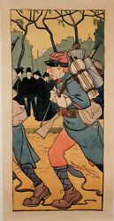 Original Vintage French Poster Before Letters By Jehans Barnoin Nice Ca. 1920