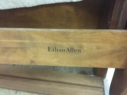 Sold -ethan Allen Legacy French Provincal Sleigh Bed Frame - Queen Sizeandnbsp