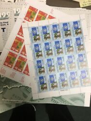 Water Activated Sheets Postage Stamps. Nice Assortment 500.00 Face Value.