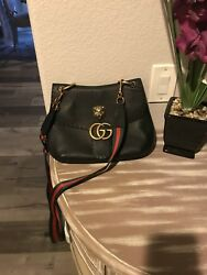 Gucci Marmont Black Tiger Bag With Custom Strap