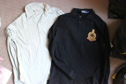 Menand039s Clothing - 2 X Diesel Designer Polo Long Sleeve Tops Large L