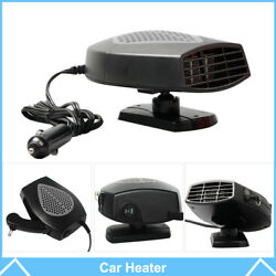 Portable Car Ceramic Heating Cooling Auto Fan Demister Defroster Black Heater