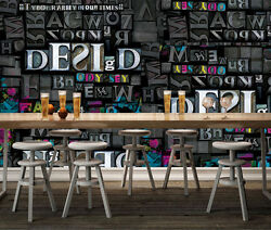 3d Colorful English Letters 331 Wall Paper Wall Print Decal Wall Aj Wallpaper Ca