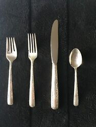 4 Piece Sterling Silver Gorham Camellia Place Setting