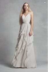 Designer Long Flowy Dress Cocktail Evening Party Prom Ball Wedding  VERA WANG