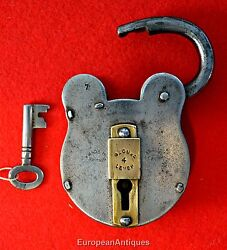 Steel And Brass Secure 4 Lever Made In Britain English Lever Padlock Lock Orig Key