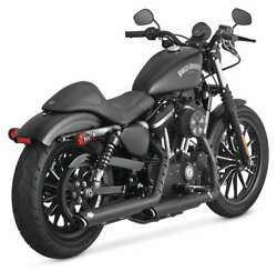 Vance And Hines Twin Slash 3in. Slip-ons Black For 2014-2018 Harley Sportster