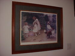 Love At First Sight Collie Sheltie Painting By Arthur Elsley Framed Art