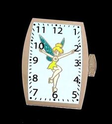 Rare Le 250 Disney Pin✿tink Tinker Bell Fun Time Series Watch Timepiece Clock Le
