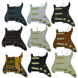 Kaish Loaded Strat Sss Pickguard Prewired Pickguard For Usa/mexican Fender