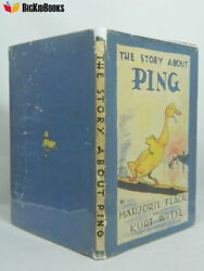 The Story About Ping Marjorie Flack Hurt Wiese 1st Edition Dj Signed Sketch 1933