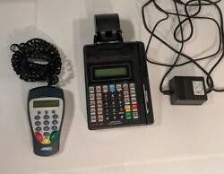 Hypercom Model T7p Credit Card Processing Machine With S9 Pin Pad And Pwr Supply