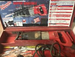Milwaukee Super Sawzall Heavy Duty U.s.a. 6527 6527-21 With Metal Case And Blades