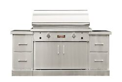 TEC Sterling Patio 2 FR Infrared Grill on SS Island and Half Rack NG