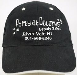 Party at Dolores Beauty Salon Black Baseball Hat Cap and Adjustable Strap