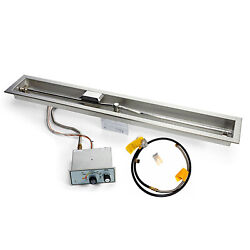 Hpc Push Button Flame Sensing Gas Fire Pit Kit For Small Tanks 60-inch Linear -