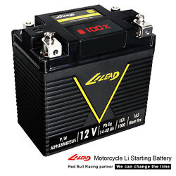 LILEAD Motorcycle Lithium Ion Battery Light Weight 800 CCA For Harley Battery