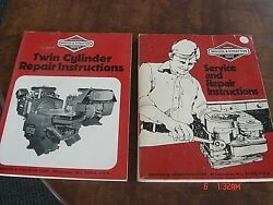 2 Briggs And Stratton Twin Cylinder Engine Repair Manual 271172 And 270962 Lot 1980s