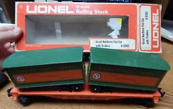 Lionel 6-9282 Great Northern Flat Car W/trailers Used In Rough Box O Scale Lqqk