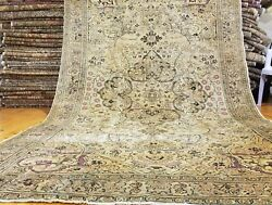 Antique 1900-1930s Turkish Designer Oushak Rug 6and0394 Andtimes 9and03910