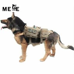 MEGE Dog Jacket With MOLLE EMT First Aid Pouch Tactical Dog Training Molle Vest