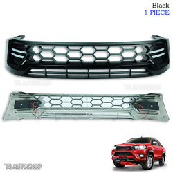 Black Drl Daylight Front Grille Grill Abs For Toyota Hilux Revo Sr5 2015 2016 17