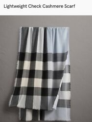 Lightweight Cashmere Check Scarf 2 Color To Choose From - Made In Uk