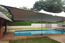 Waterproof Wedding Event Yard Lawn Pool Patio Awning Canopy Bedouin Stretch Tent